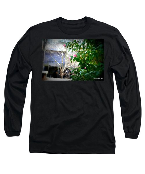Long Sleeve T-Shirt featuring the photograph Grist Mill Roses by Tara Potts