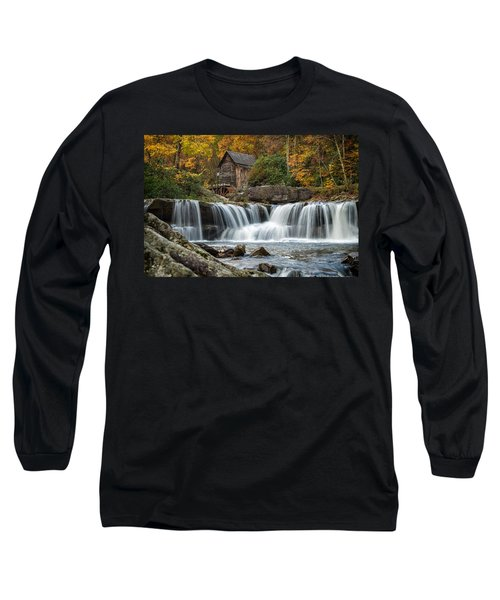 Grist Mill With Vibrant Fall Colors Long Sleeve T-Shirt