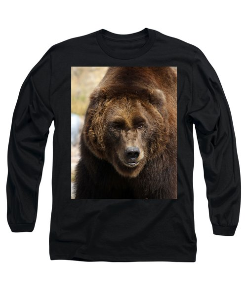 Grizzly Long Sleeve T-Shirt by Steve McKinzie