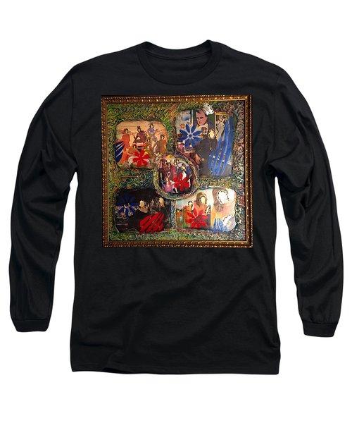 Groovy Celebrations By Alfredo Garcia Long Sleeve T-Shirt
