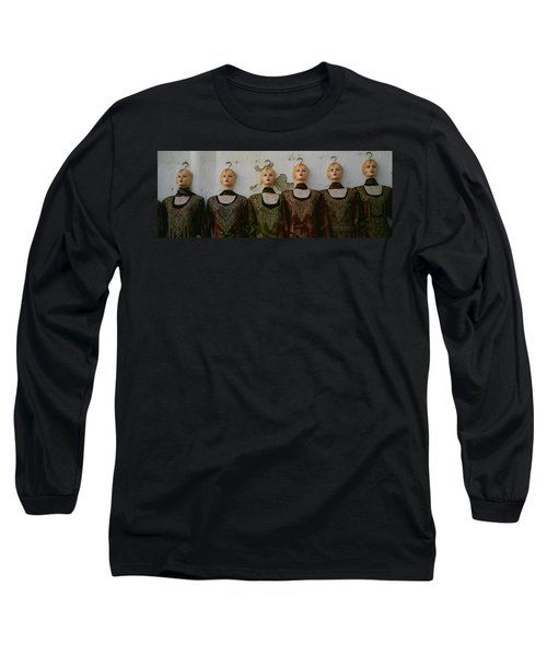 Group Of Mannequins In A Market Stall Long Sleeve T-Shirt