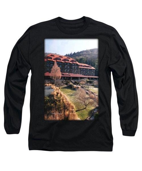 Grove Park Inn In Early Winter Long Sleeve T-Shirt