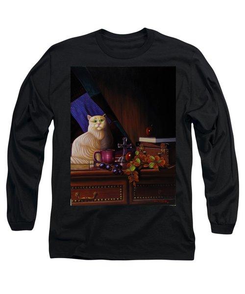 Grumpy Cat Long Sleeve T-Shirt by Gene Gregory
