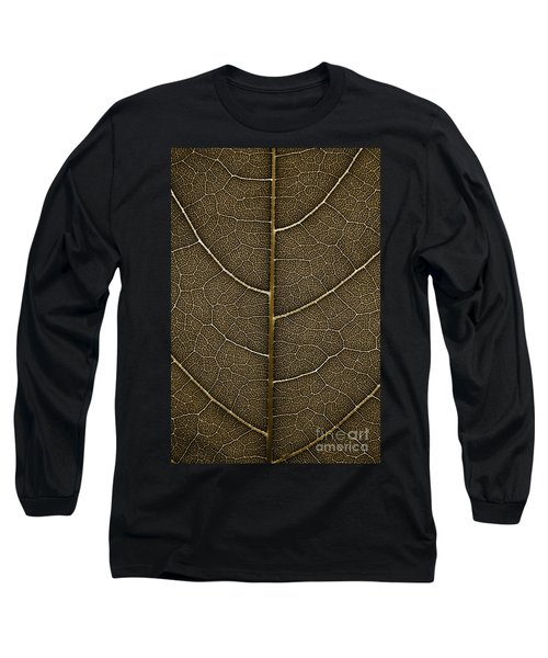Long Sleeve T-Shirt featuring the photograph Grunge Leaf Detail by Carsten Reisinger