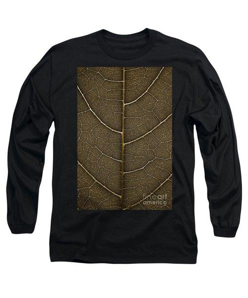 Grunge Leaf Detail Long Sleeve T-Shirt