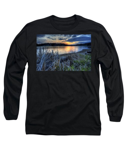Guilford Lake Sunset Ohio Long Sleeve T-Shirt