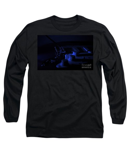 Guitar Blues Long Sleeve T-Shirt by Linda Bianic
