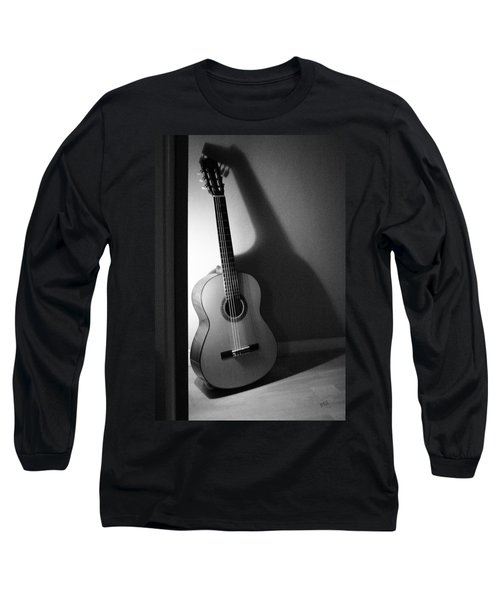 Guitar Still Life In Black And White Long Sleeve T-Shirt