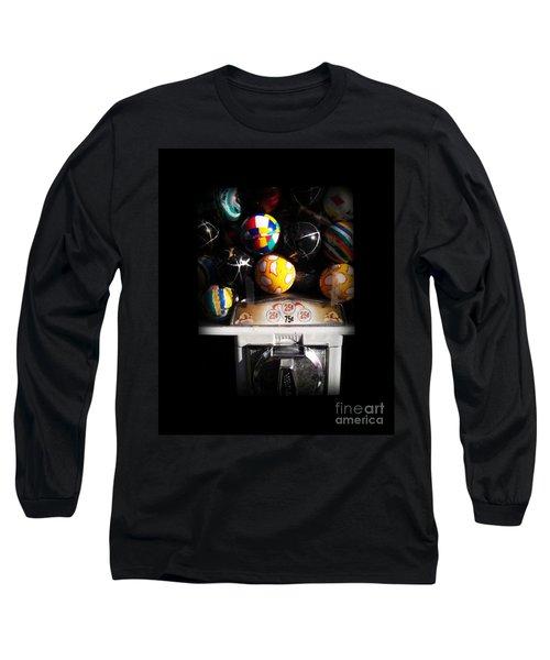 Series - Gumball Memories 1 - Iconic New York City Long Sleeve T-Shirt by Miriam Danar