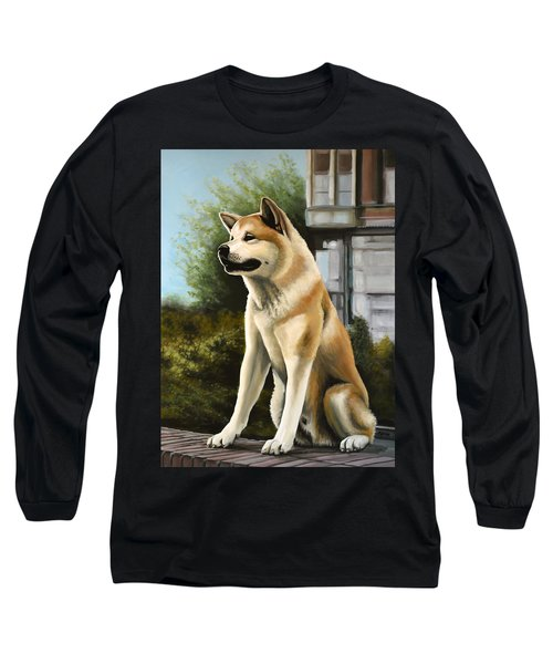 Hachi Painting Long Sleeve T-Shirt