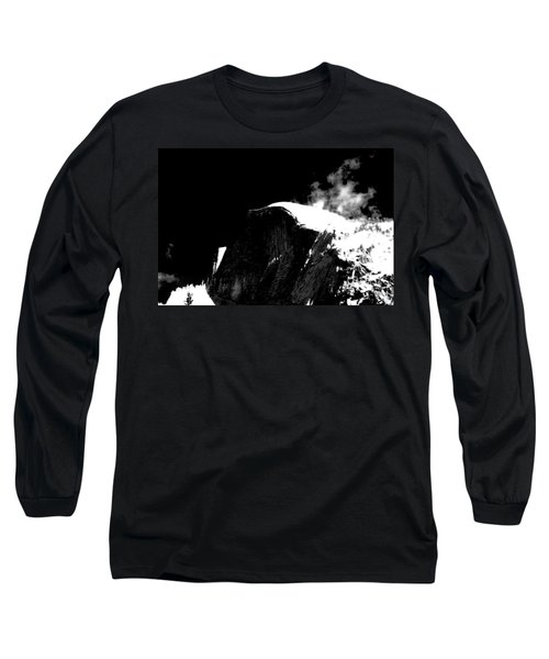 Half Dome In Winter Bw Long Sleeve T-Shirt