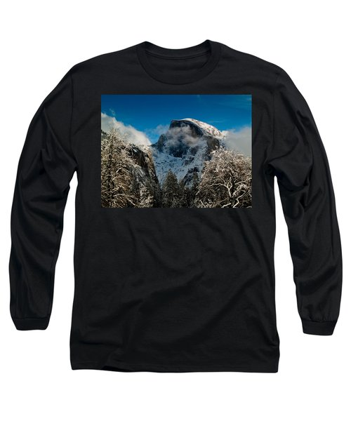 Half Dome Winter Long Sleeve T-Shirt by Bill Gallagher