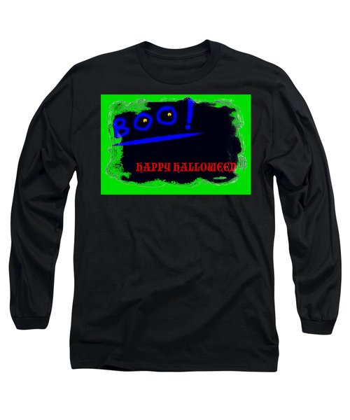 Long Sleeve T-Shirt featuring the digital art Halloween Boo by Christopher Rowlands