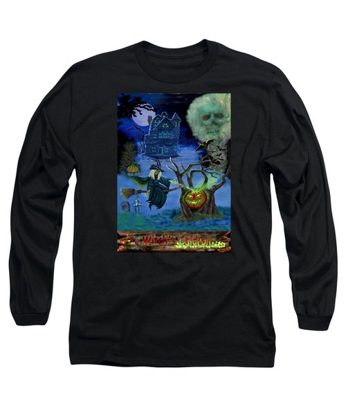 Halloween Witch's Coldron Long Sleeve T-Shirt by Glenn Holbrook