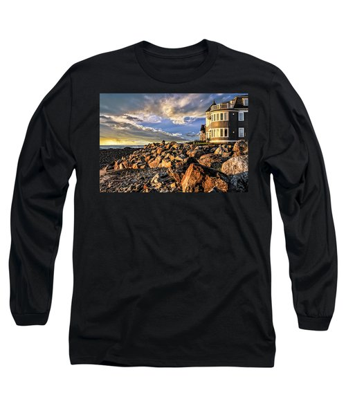 Hampton Beach Sunrise Long Sleeve T-Shirt by Fred Larson
