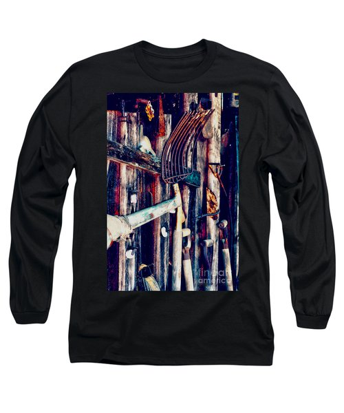 Long Sleeve T-Shirt featuring the photograph Handles And The Pitchfork by Lesa Fine