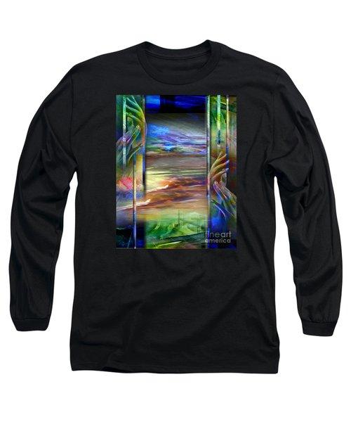 Hands-prisoned Long Sleeve T-Shirt by Allison Ashton