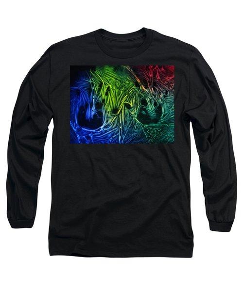 chemiluminescence photography Handprint Long Sleeve T-Shirt by David Mckinney