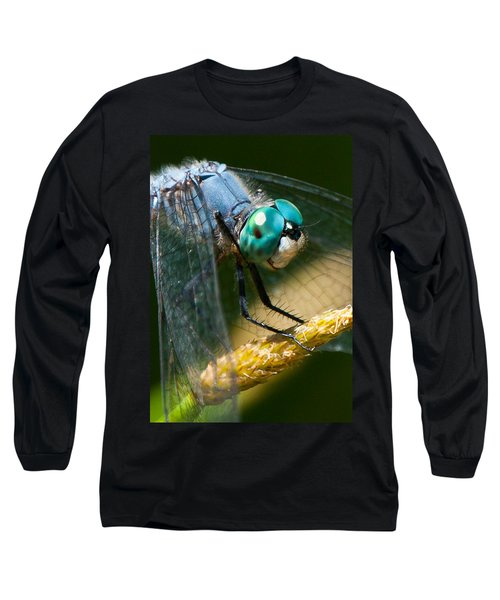 Happy Blue Dragonfly Long Sleeve T-Shirt