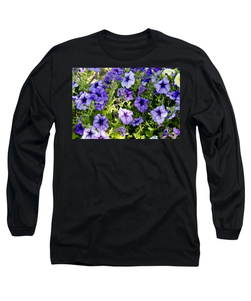 Long Sleeve T-Shirt featuring the photograph Happy Flowers by Wilma  Birdwell