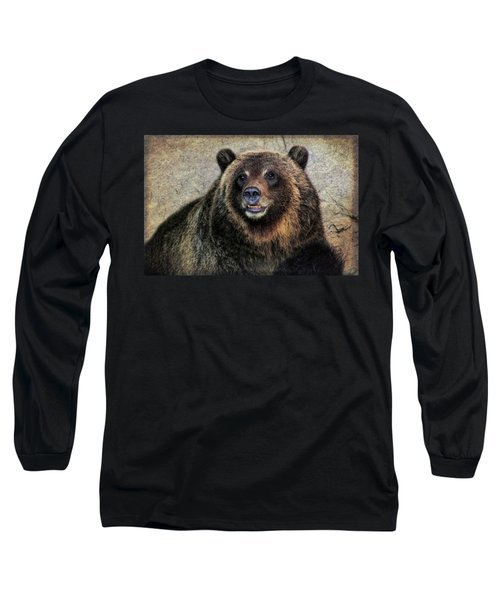 Happy Grizzly Bear Long Sleeve T-Shirt