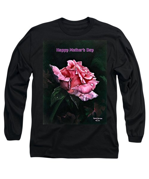 Long Sleeve T-Shirt featuring the painting Happy Mother's Day by Lynne Wright