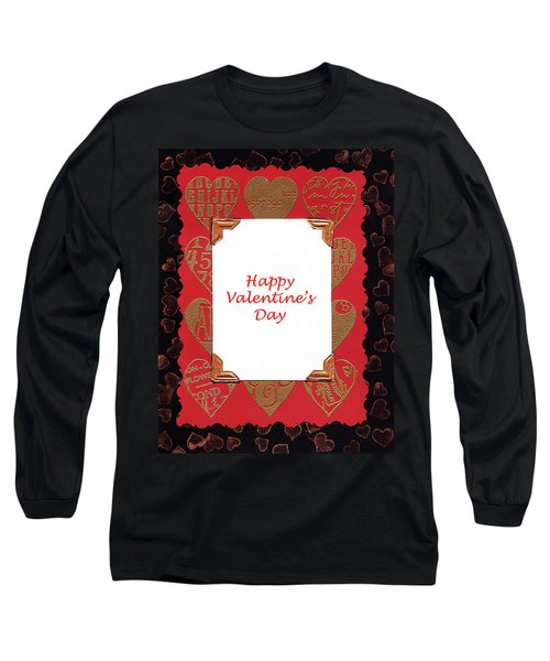 Long Sleeve T-Shirt featuring the photograph Happy Valentines Day Card by Vizual Studio