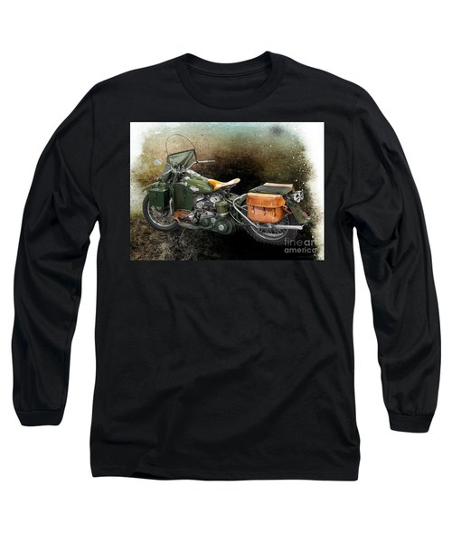 Harley Davidson 1942 Experimental Army Long Sleeve T-Shirt