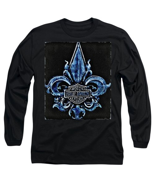 Harley Davidson Fleur De Lys Logo Long Sleeve T-Shirt by Danielle  Parent