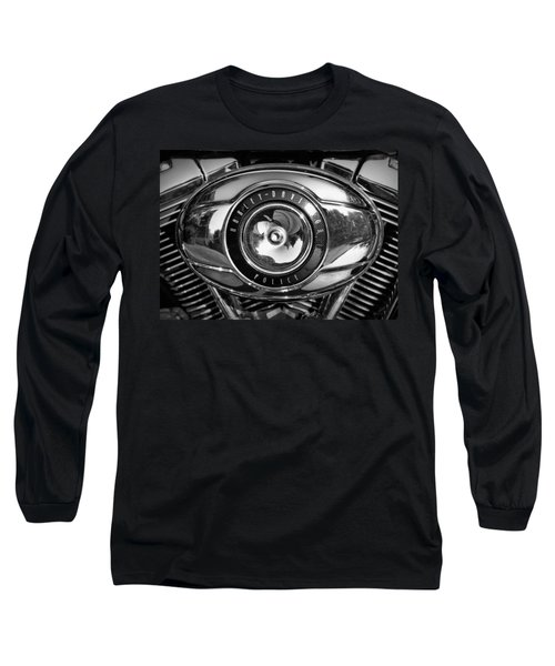 Harley-davidson Police B And W Long Sleeve T-Shirt