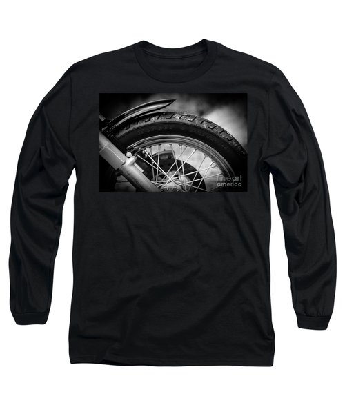 Long Sleeve T-Shirt featuring the photograph Harley Davidson Tire by Carsten Reisinger