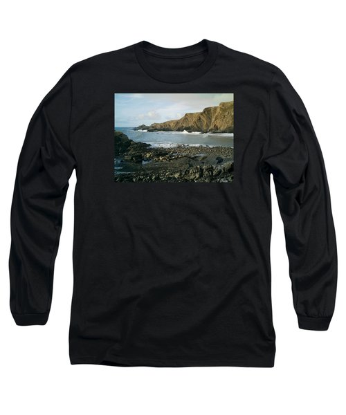 North Devon - Hartland Quay Long Sleeve T-Shirt by Richard Brookes