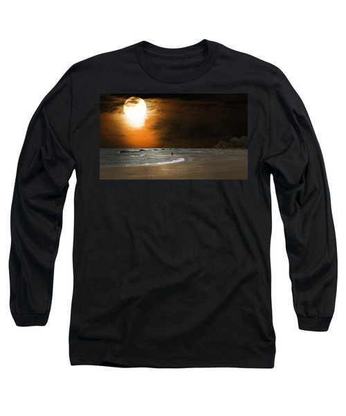 Harvest Moon On The Beach Long Sleeve T-Shirt
