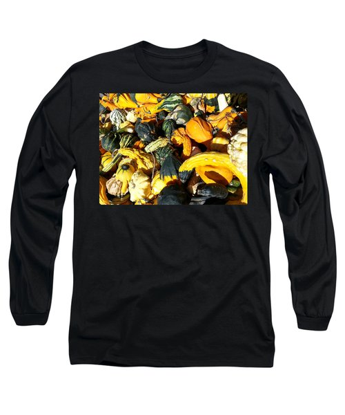 Long Sleeve T-Shirt featuring the photograph Harvest Squash by Caryl J Bohn