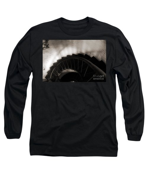 Long Sleeve T-Shirt featuring the photograph Hatteras Staircase by Angela DeFrias