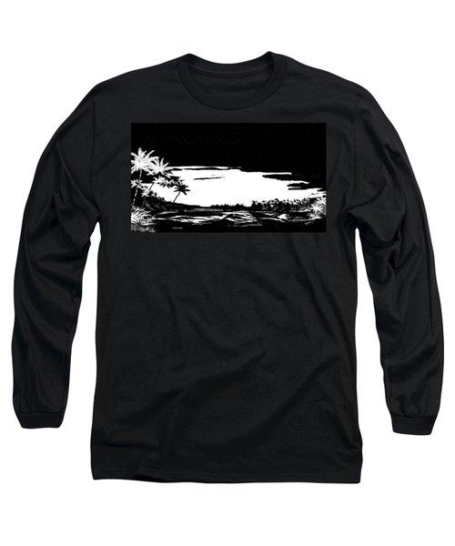Long Sleeve T-Shirt featuring the digital art Hawaiian Night by Anthony Fishburne