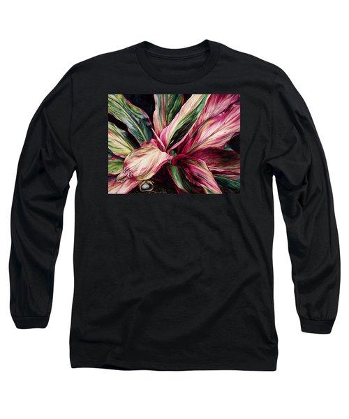 Hawaiian Prayer Long Sleeve T-Shirt by Lynda Hoffman-Snodgrass