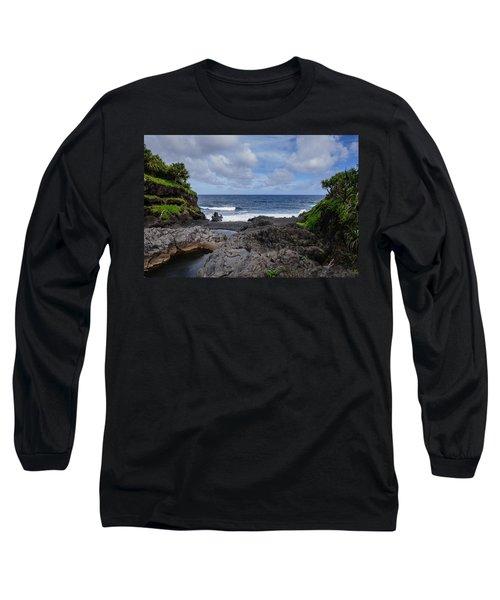 Hawaiian Surf Long Sleeve T-Shirt