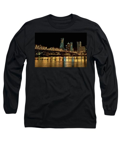 Hawthorne Bridge Over Willamette River Long Sleeve T-Shirt