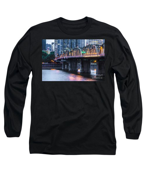 Hawthorne Bridge Portland Oregon Long Sleeve T-Shirt
