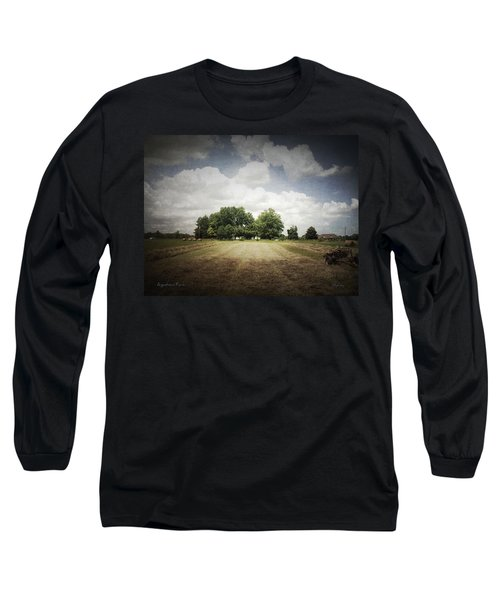 Haying At Angustown Long Sleeve T-Shirt by Cynthia Lassiter