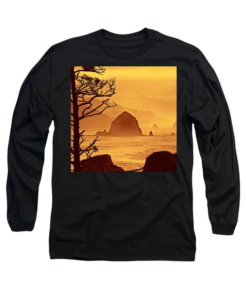 Haystack Burnt Sienna Long Sleeve T-Shirt by Wendy McKennon