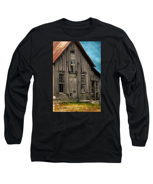 Shack Of Elora Tn  Long Sleeve T-Shirt by Lesa Fine