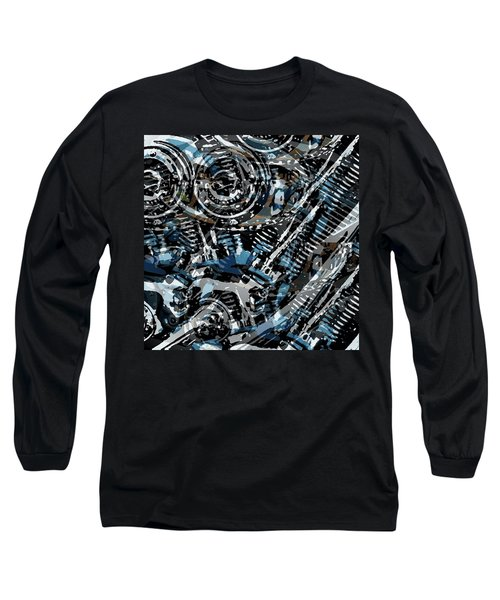 Abstract V-twin Long Sleeve T-Shirt