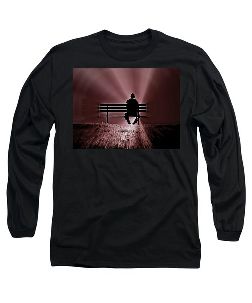 He Spoke Light Into The Darkness Long Sleeve T-Shirt by Micki Findlay
