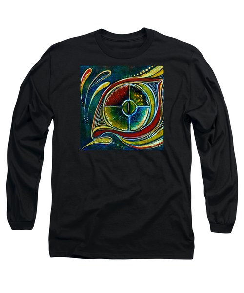 Long Sleeve T-Shirt featuring the painting Healer Spirit Eye by Deborha Kerr