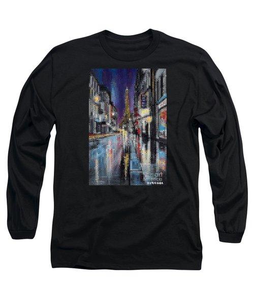 Heart Of Paris Long Sleeve T-Shirt by Dragica  Micki Fortuna