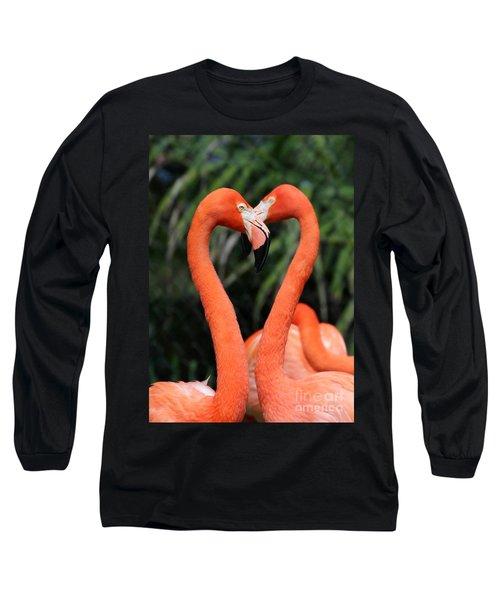 Heart To Heart Flamingo's Long Sleeve T-Shirt