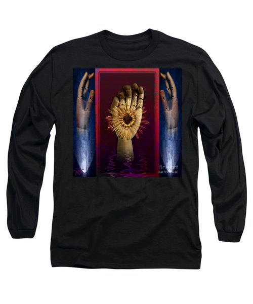 Long Sleeve T-Shirt featuring the digital art Hearted Hand by Rosa Cobos