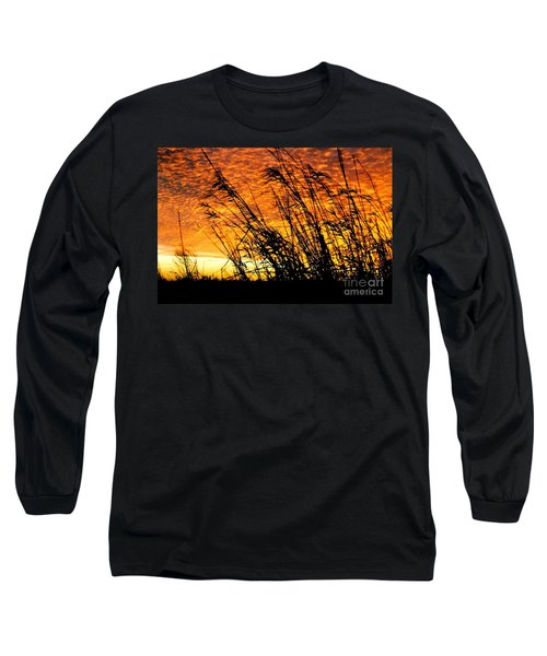 Sunset Heaven And Hell In Beaumont Texas Long Sleeve T-Shirt by Michael Hoard